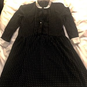 Polka dot black dress